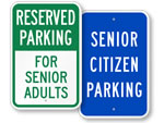 Elderly Parking Signs