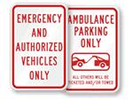 EMS & Ambulance Parking Signs