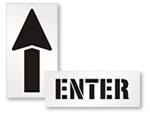 Enter & Directional Stencils