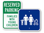 Family Parking Signs