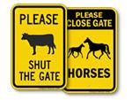 Keep Farm Gate Closed