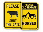 Keep Farm Gate Closed