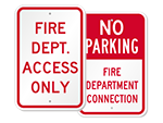 FDC  No Parking Signs