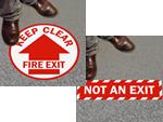 Floor Exit Signs
