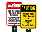 Foul Ball Warning Signs