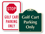 Golf Cart Parking Signs