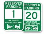 Green Parking Spot Signs