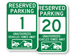 Green Parking Spot Signs