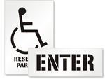Handicap Stencil