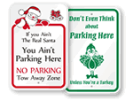 Holiday No Parking Signs