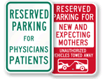 Hospital Reserved Parking Signs - by Title