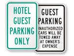 Hotel Parking Signs