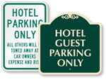 Hotel & Motel Parking Signs