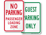 Hotel Reserved Parking Signs