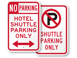 Hotel Shuttle Bus Signs