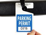 Hanging Parking Permits: In Stock Parking Permits & Hang Tags