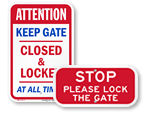 Keep Gate Closed Signs