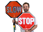 LED Stop Sign Paddles & Stop Slow Paddles