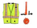 LED Vests, Batons & Road Flares