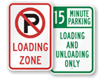 Loading & Unloading Zone Signs