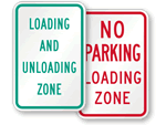Loading and Unloading Zone Signs