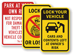 Lock Your Car Signs