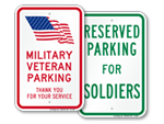 Military Parking Signs