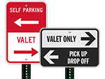 More Directional Valet Signs