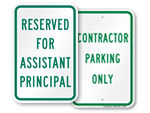 """More """"Title"""" Reserved Parking Signs"""