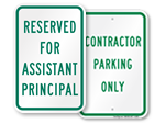 "More ""Title"" Reserved Parking Signs"