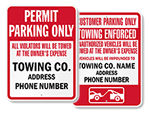 More Towing Company Signs