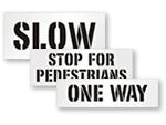 Parking Lot Traffic Stencils
