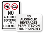 More No Alcoholic Beverages Allowed Signs