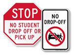 No Drop Off Signs