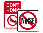 No Honking Signs & No Horns Signs