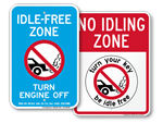 State No Idling Signs