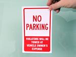 No Parking Stickers