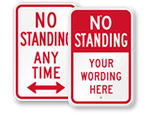 No Standing, No Stopping Sign