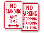 No Standing Signs