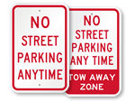 No Street Parking Signs