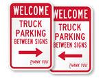 No Truck Parking Between Signs