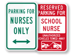Nurse Parking Signs