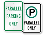 Parallel Parking Only Signs