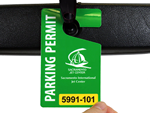 Hang Tags and Decals for Airport Parking Lots