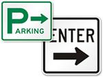 Parking Lot Entrance Signs