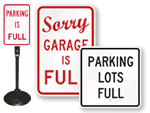 Parking Lot is Full Signs