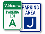 Parking Lot Signs A-J
