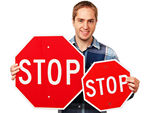 Parking Lot Stop Signs