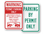 In Stock Parking Permit Signs