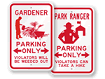 Novelty Parking Signs